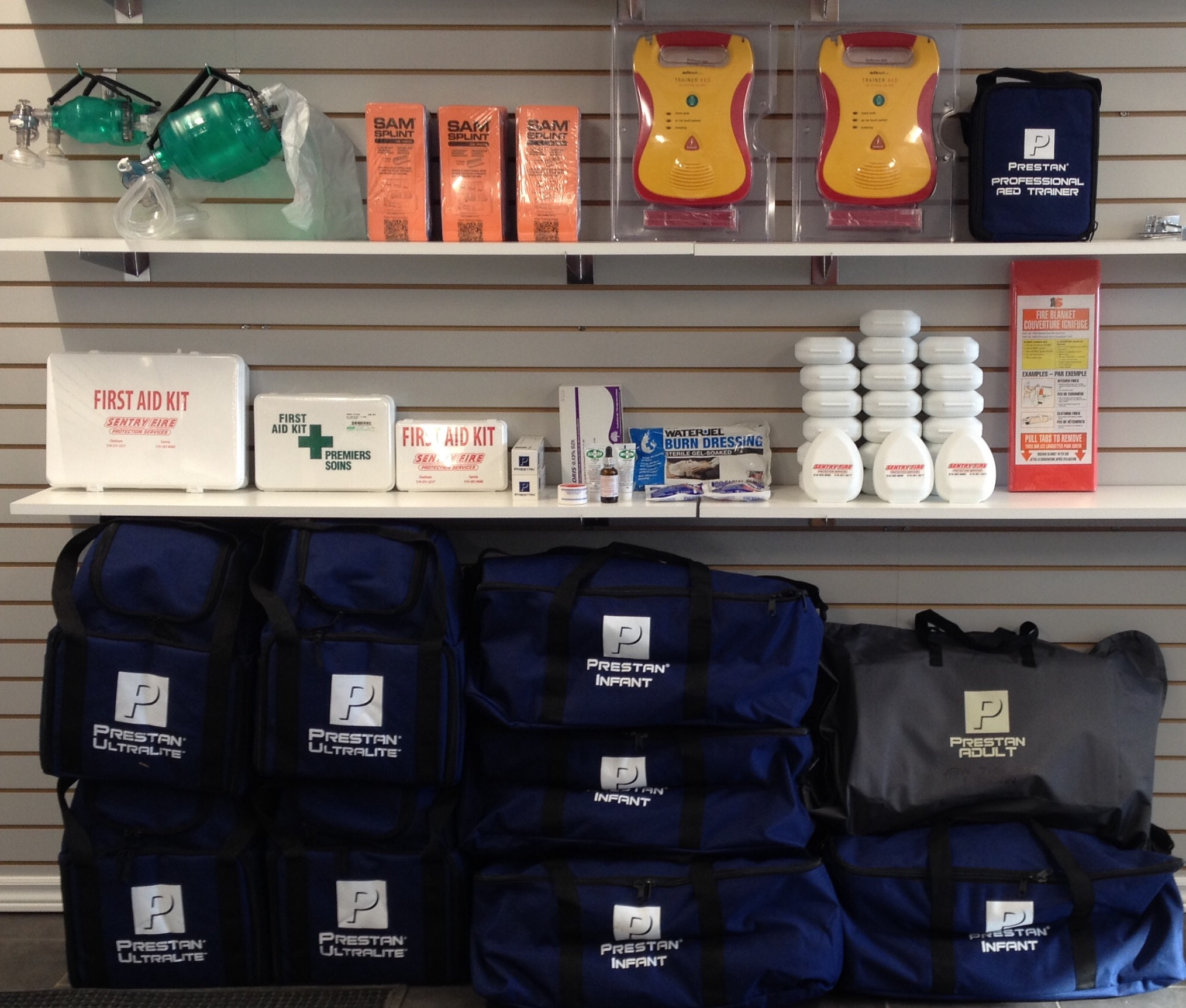 First Aid kits, AEDs and all of you First Aid supplies to be WSIB compliant in the Sarnia - Lambton / Bluewater and Chatham Kent area